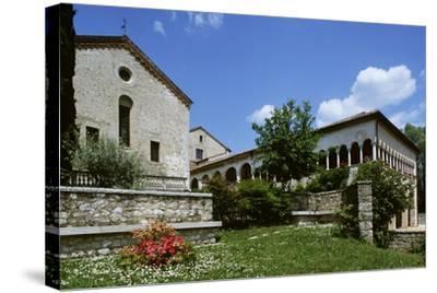 Italy, Veneto, Province of Treviso, Follina, Cistercian Abbey of Santa Maria--Stretched Canvas Print