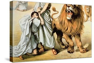 Fed to the Lions--Stretched Canvas Print