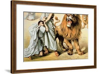 Fed to the Lions--Framed Giclee Print