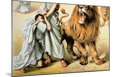 Fed to the Lions--Mounted Giclee Print