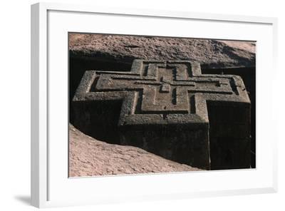 Ethiopia, Lalibela, Rock-Hewn Churches, Church of Saint George--Framed Giclee Print