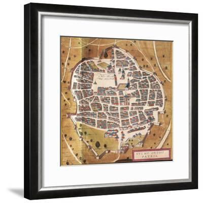 Italy, Sulmona, the City of Sulmona from Civitates Orbis Terrarum--Framed Giclee Print