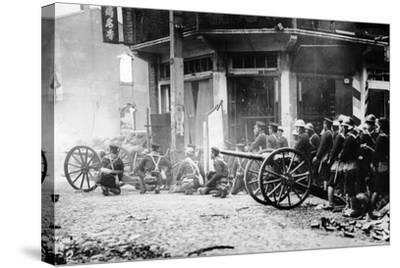 Japanese Artillery in China, C.1930S--Stretched Canvas Print