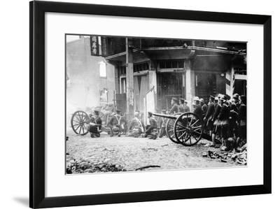 Japanese Artillery in China, C.1930S--Framed Photographic Print