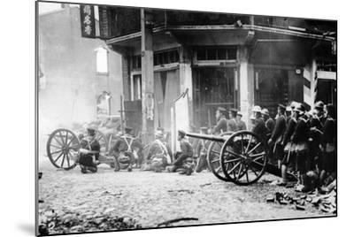 Japanese Artillery in China, C.1930S--Mounted Photographic Print