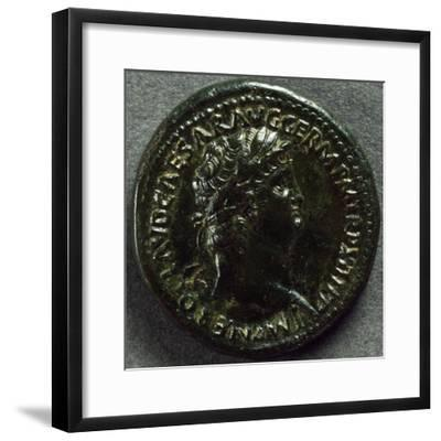 Sestertius Bearing Image of Emperor Nero, 64-66 AD, Recto, Roman Coins AD--Framed Giclee Print