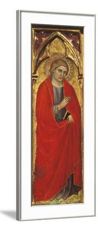 A Saint, Detail from the Assumption of the Virgin, Triptych, 1401, Taddeo Di Bartolo--Framed Giclee Print