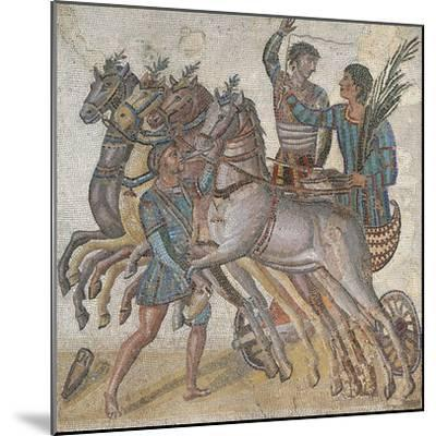 Mosaic Work Depicting a Chariot Race--Mounted Giclee Print