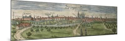 Germany, Halle, View of Halle an Der Saale City--Mounted Giclee Print