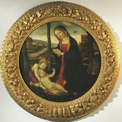 Madonna and Child with St. John--Framed Giclee Print