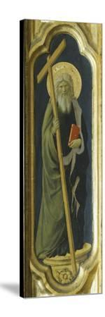 Lateral Pillar with Figure of Saint--Stretched Canvas Print