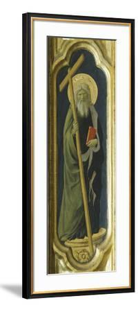 Lateral Pillar with Figure of Saint--Framed Giclee Print