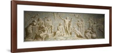Ceiling of Central Hall of Villa Melzi D' Eril, Bellagio, 1808-1810--Framed Giclee Print