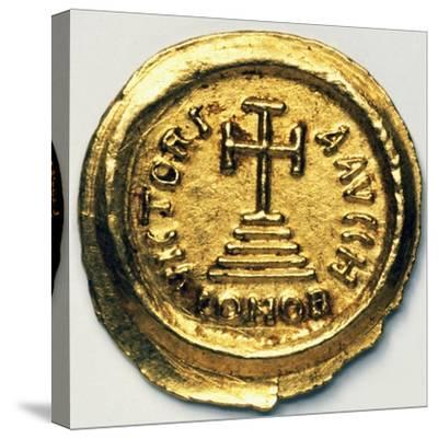 Solidus of Byzantine Emperor Heraclius, Byzantine Coins, 7th Century AD--Stretched Canvas Print