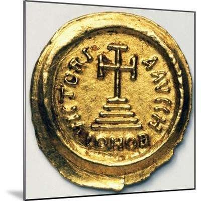 Solidus of Byzantine Emperor Heraclius, Byzantine Coins, 7th Century AD--Mounted Giclee Print
