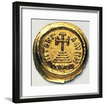 Solidus of Byzantine Emperor Heraclius, Byzantine Coins, 7th Century AD--Framed Giclee Print
