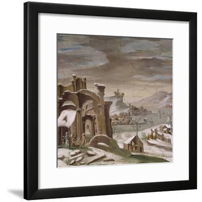 Seasons, Winter, 16th Century Decoration of Palazzo Odescalchi, Bassano Romano, Lazio, Italy--Framed Giclee Print
