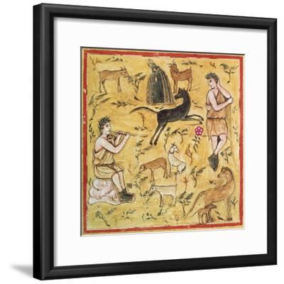 Miniature Depicting a Pastoral Scene, Roman Manuscript--Framed Giclee Print