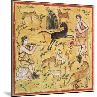 Miniature Depicting a Pastoral Scene, Roman Manuscript--Mounted Giclee Print