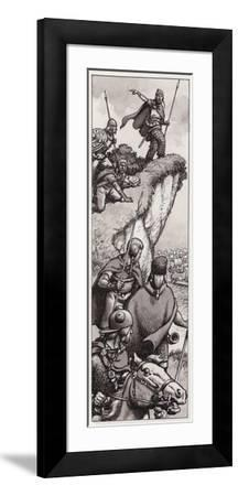 Ancient Britons Spotting the Invading Forces of Julius Caesar in 55BC--Framed Giclee Print