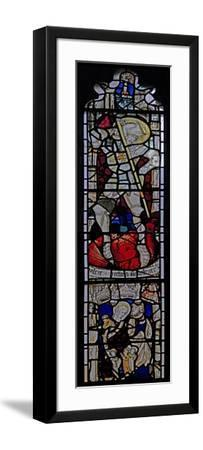 Window Ew Depicting St George; St Mary Cleopas, Alphaeus and their Children--Framed Giclee Print