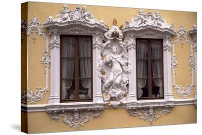 Rococo Decoration of Facade of Falkenhaus, 1751, Wuerzburg, Bavaria, Germany--Stretched Canvas Print