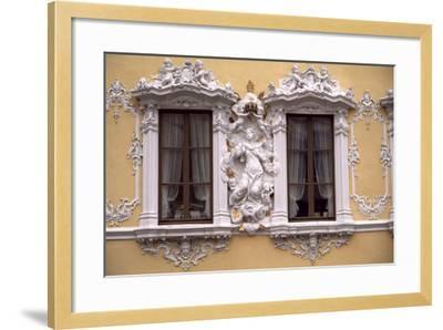 Rococo Decoration of Facade of Falkenhaus, 1751, Wuerzburg, Bavaria, Germany--Framed Giclee Print