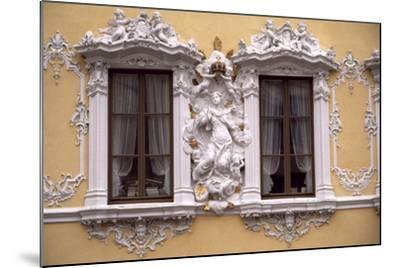 Rococo Decoration of Facade of Falkenhaus, 1751, Wuerzburg, Bavaria, Germany--Mounted Giclee Print
