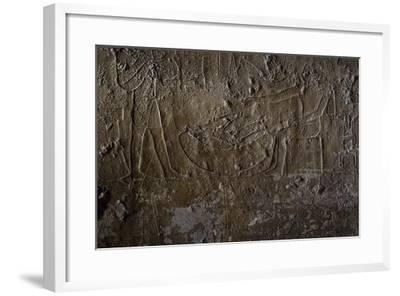 Fish Seller, Relief, Processional Ramp of Pyramid of Unas, Saqqara--Framed Photographic Print