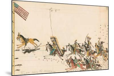 Fight Near Ft. Wallace, 1874-75--Mounted Giclee Print