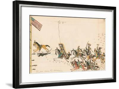Fight Near Ft. Wallace, 1874-75--Framed Giclee Print