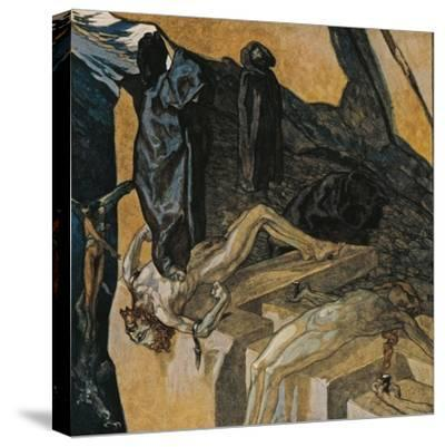 Austria, Vienna, Illustration of Dante Alighieri's Divine Comedy--Stretched Canvas Print