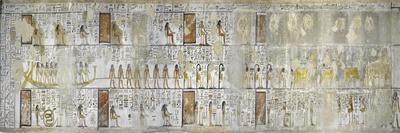 Egypt, Thebes, Luxor, Valley of the Kings, Mural Paintings, Side Chamber, Tomb of Seti I--Framed Giclee Print