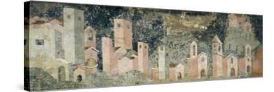 Ambulatory of Cosmatesque Cloister in Monastery of St Scholastica, Subiaco. Italy, 13th Century--Stretched Canvas Print
