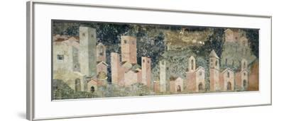 Ambulatory of Cosmatesque Cloister in Monastery of St Scholastica, Subiaco. Italy, 13th Century--Framed Giclee Print
