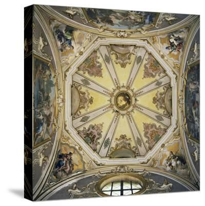Decorations and Frescoes in Vault of Cupola of Colleoni Chapel--Stretched Canvas Print