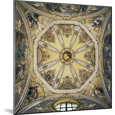 Decorations and Frescoes in Vault of Cupola of Colleoni Chapel--Mounted Giclee Print