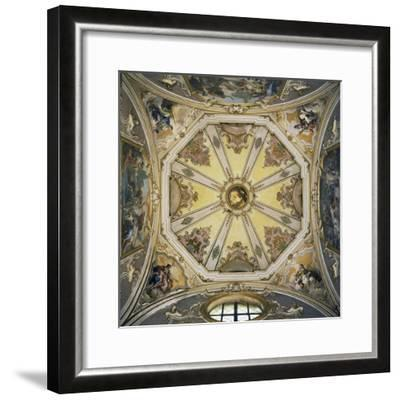 Decorations and Frescoes in Vault of Cupola of Colleoni Chapel--Framed Giclee Print