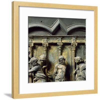 Christ at Column, Bronze Panel--Framed Giclee Print