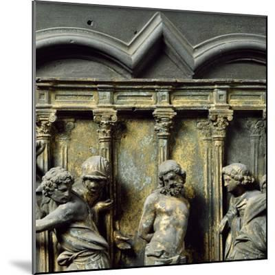 Christ at Column, Bronze Panel--Mounted Giclee Print