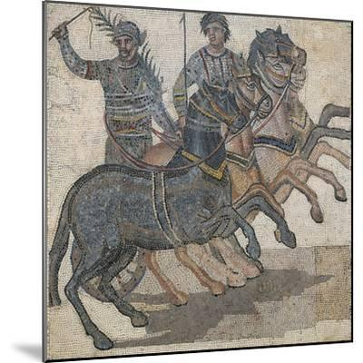 Imperial-Age Mosaic Depicting Chariot Race, 3rd Century--Mounted Giclee Print