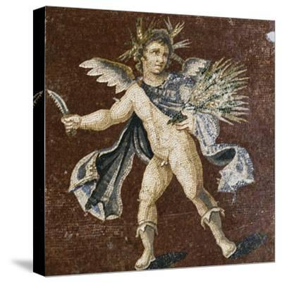 Mosaic Showing Putto, Mosaic of Four Seasons, from Harbiye--Stretched Canvas Print