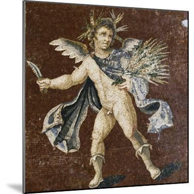 Mosaic Showing Putto, Mosaic of Four Seasons, from Harbiye--Mounted Giclee Print