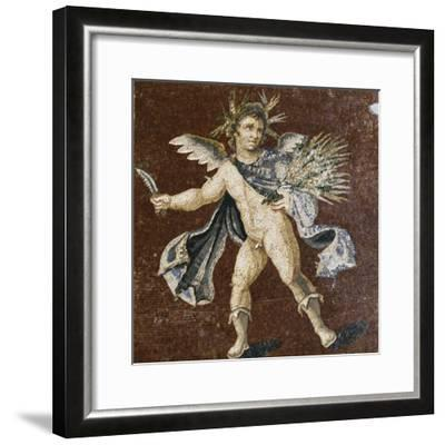 Mosaic Showing Putto, Mosaic of Four Seasons, from Harbiye--Framed Giclee Print