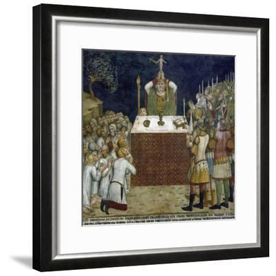 Miracle of Host Driving Away Devil--Framed Giclee Print