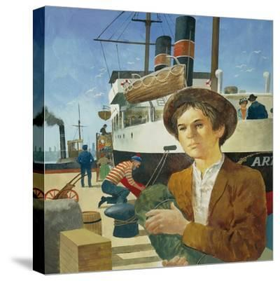 Illustration Representing Boy in a Port from 'Heart' by Edmondo De Amicis--Stretched Canvas Print