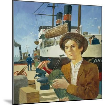 Illustration Representing Boy in a Port from 'Heart' by Edmondo De Amicis--Mounted Giclee Print