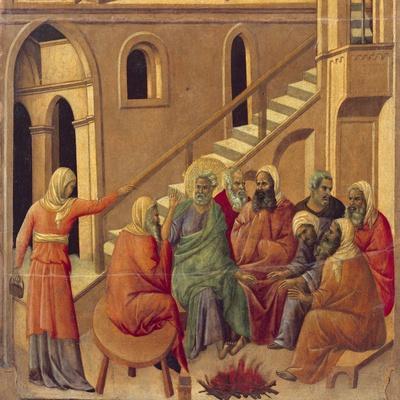 Peter's Denial of Christ--Framed Giclee Print