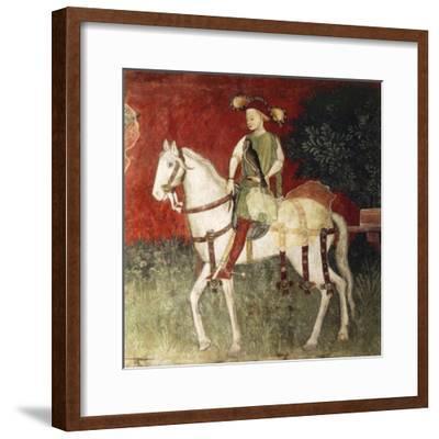 Figure of Falconer, Detail--Framed Giclee Print