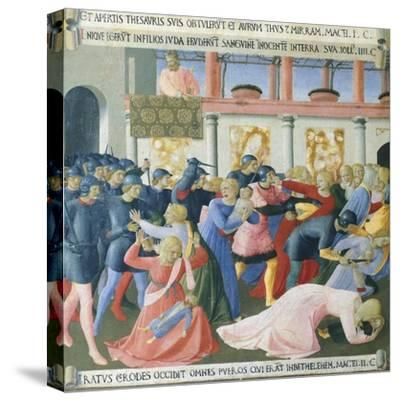 Inset Depicting the Massacre of the Innocents, Panel from the Armadio Degli Argenti--Stretched Canvas Print